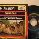 "LOS ARAGON mexico 45 CULIACAN 7"" Rock PICTURE SLEEVE MUSART"