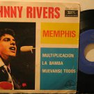 """JOHNNY RIVERS mexico EP MEMPHIS 7"""" Rock PICTURE SLEEVE GAMMA"""