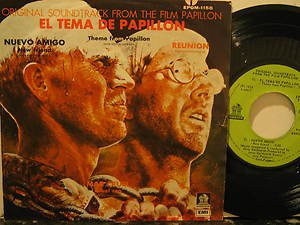 """JERRY GOLDSMITH mexico 45 PAPILLON 7"""" OST PICTURE SLEEVE ODEON"""