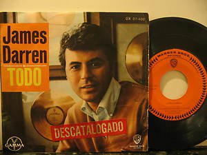 """JAMES DARREN mexico 45 TODO 7"""" Vocal PICTURE SLEEVE WB"""