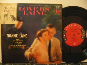 "FRANKIE LAINE usa 10"" LOVERS' LAINE Rock COLUMBIA"