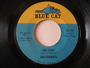 "FENWAYS usa 45 THE FIGHT/HARD ROAD AHEAD 7"" Rock GARAGE BLUE CAT"