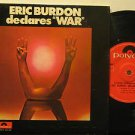 "ERIC BURDON peru 45 DECLARES WAR 7"" Rock PICTURE SLEEVE POLYDOR"
