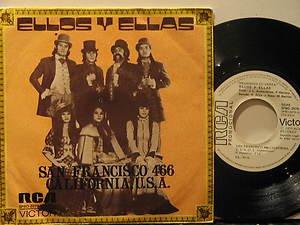 """ELLOS Y ELLAS italy 45 SAN FRANCISCO 466 7"""" Rock PICTURE SLEEVE RCA"""