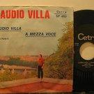 """CLAUDIO VILLA italy 45 A MEZZA VOCE 7"""" Italian PICTURE SLEEVE CETRA"""