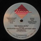 "BEATMASTER CLAY D & THE GET FUNKY CREW usa 12"" DO YOUR DUTY Dj MIAMI MUSIC/WHITE"
