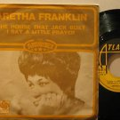 "ARETHA FRANKLIN italy 45 THE HOUSE THAT JACK BUILT 7"" Soul PICTURE SLEEVE ATLANT"