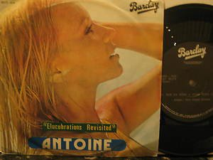 """ANTOINE bolivia 45 ELUCUBRATIONS REVISITED 7"""" French PICTURE SLEEVE BARCLAY"""