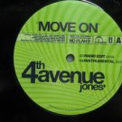 "4TH AVENUE JONES usa 12"" MOVE ON Dj WHITE JACKET INTERSCOPE"
