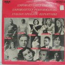 SAMPLER usa LP UNFORGETTABLE VOICES FROM THE ITALIAN OP Classical RCA excellent