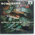 ROLF REINHARDT ENDRES QUARTET usa LP SCHUBERT QUINTET OP.114 TROUT Classical VOX