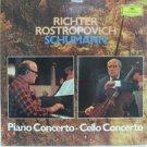 RICHTER ROSTROPOVICH usa LP SCHUMANN PIANO & CELLO CONCERTO Classical DEUSTCHE G