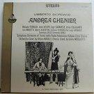 RENATA TEBALDI usa LP UMBERTO GIORDANO ANDREA CHENIER Classical BOX SET CETRA ex