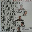 PLACIDO DOMINGO usa LP VERDI DON CARLO HIGHLIGHTS Classical ANGEL excellent