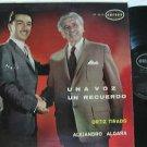 ORTIZ TIRADO & ALEJANDRO ALGARA latin america LP UNA VOZ UN RECUERDO ORFEON