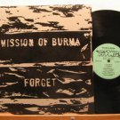 MISSION OF BURMA usa LP FORGET Rock WITH ORIGINAL INNER SLEEVE TAANG excellent