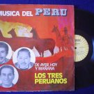 LOS TRES  PERUANOS LP MUSICA DEL PERU ARGENTINA_48004