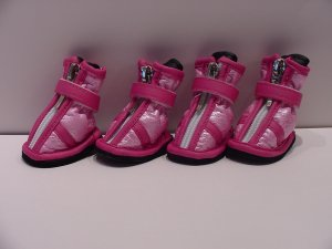 Dog Clothes Apparel Hot Pink & Pink Boots Booties Small