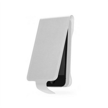 Cygnett White Lavish Genuine Leather Flip Case for iPhone 5 / 5S  CY1132CPLAV