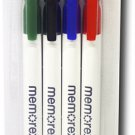 Memorex CD & DVD Markers 4 Pack - Green, Black, Red, Blue For Any CD/DVD