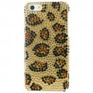 Tonic Glamour Rhinestone Case For iPhone 5/5s - Leopard  + Free Screen Protector