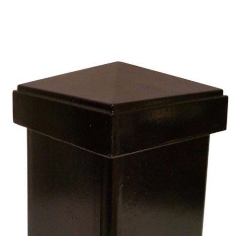 "Nuvo Iron 2 1/2""x 2 1/2"" Pyramid Ornamental Aluminum Post Cap for 2 1/2""x 2 1/2"
