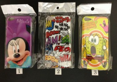 Cartoon Hard Back Cover Case For Apple iPod Touch5+Screen Protector+Wall Charger