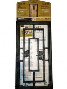 "Nuvo Iron RECTANGLE ALUMINUM DOOR INSERT 17"" X 9"" ACW57 fencing,fence gates,home"