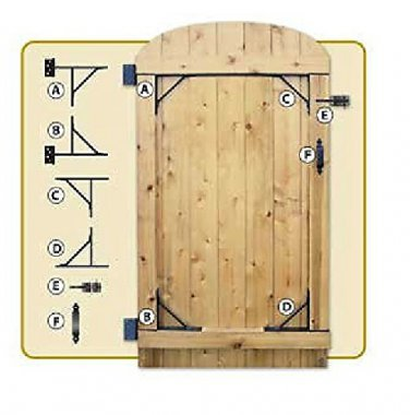 """NUVO IRON COMPLETE GATE HARDWARE KIT HEAVY DUTY HGCBHK01 for 25"""" to 72"""" openings"""