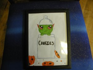 Cookie monster Original drawing by Artist Olivia Lette