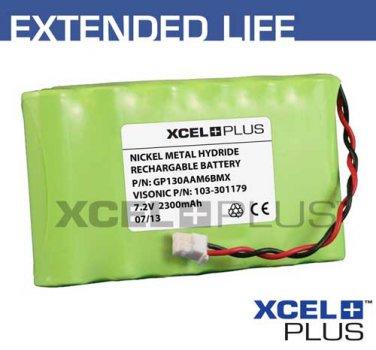 Visonic Powermax Complete 2300mA Alarm Battery 24hr 7.2V 103-301179