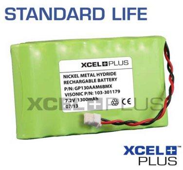Visonic Powermax Complete 1300mA Alarm Battery 24hr 7.2V 103-301179