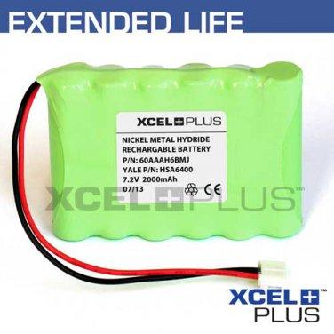 Yale HSA6400 2000mA Premium Alarm Control Panel Backup Battery - Model 60AAAH6BMJ