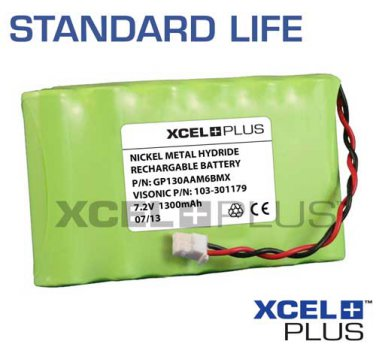 Visonic AmberSelect /Link Personal Emergency Response 1300mA 7.2V Alarm Battery