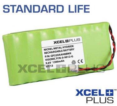Visonic PowermaxPro/Complete Alarm 1300mA Battery Pack 9.6V NiMH 0-9912-G