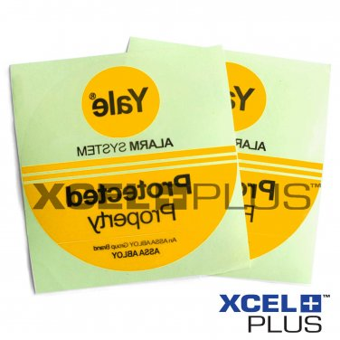"""5X Yale """"Protected Property"""" HSA6000 Window & Door Security Alarm Warning Stickers"""