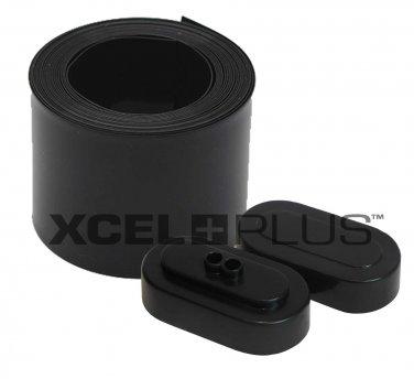 RC Black Wrap & Plastic End Caps Kit for Tamiya SubC Battery Packs 7.2/8.4V