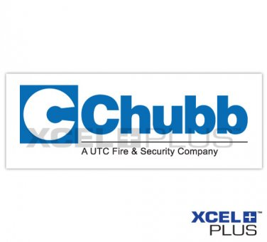 "Chubb ""Fire & Security Company"" Adhesive Sticker X3 PCS"
