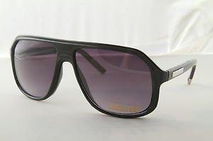 Black 80s style wood grain stunna aviator sunglasses gradient lens casino gamble