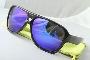 Funky Black/purp mirror aviator sunglasses stunna 80s dispatch style With Pouch