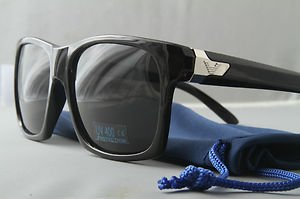 Standard Black Sport Sunglasses With Smoke lenses retro 80s casual style shades