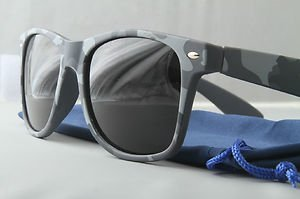 Urban Gray Camo Sunglasses With Dark Smoke lenses retro 80s vintage style