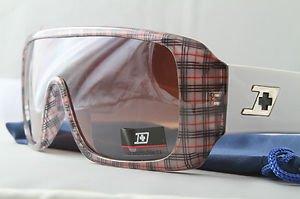 Red Plaid FUNKY ski snowboard STUNNA aviator goggle style sunglasses retro