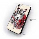 White Tiger Animal Design Art iPhone 4 Case , iPhone 4 Hard Cases