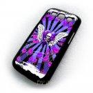 Skull & Roses Purple Design Art Samsung Galaxy S3 i9300 case