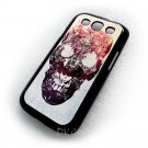 Flower Skull  Design Art Samsung Galaxy S3 i9300 Cover Hard Cases