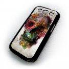 Flower Skull  Design Art Samsung Galaxy S3 i9300 case