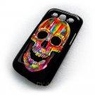 Cromatic Skull Design Art Samsung Galaxy S3 i9300 Cover Hard case