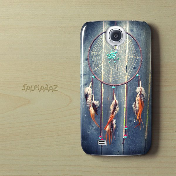 Dreamcatcher Vintage Native Galaxy S4 I9500 3D Case, Dreamcatcher Galaxy S4 I9500 3D Cover