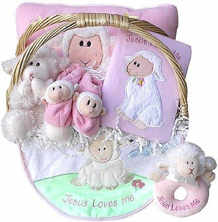 Jesus Loves Me Baby Gift Basket (Boy or Girl) * Clearance Item *